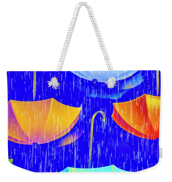 Rainy Day Parade Weekender Tote Bag