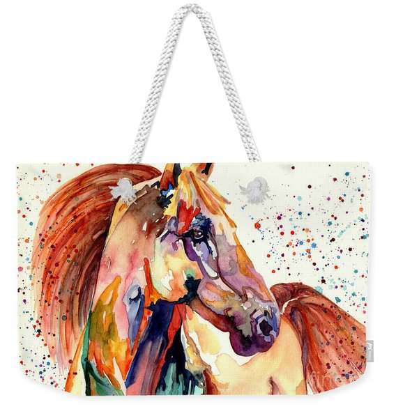 Rainy Horse Weekender Tote Bag