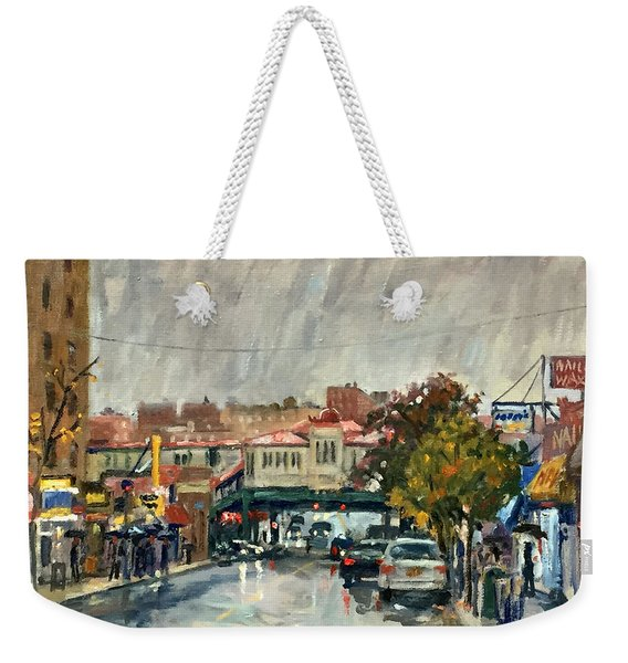 Rainy Morning 231st Street The Bronx Weekender Tote Bag