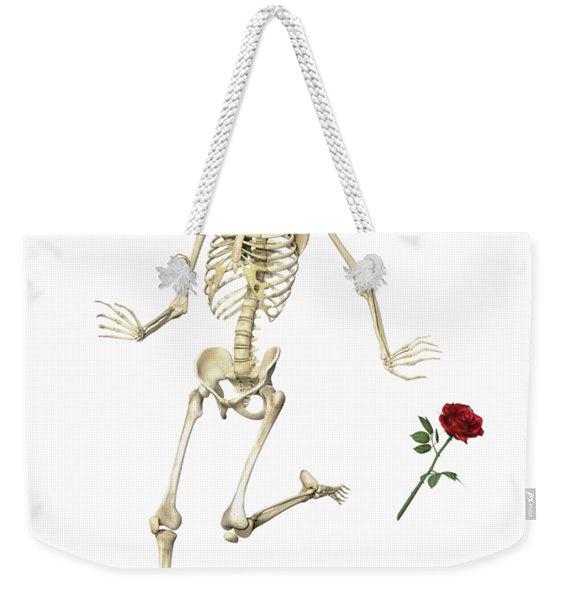 Rambling Rose Running Skeleton Weekender Tote Bag