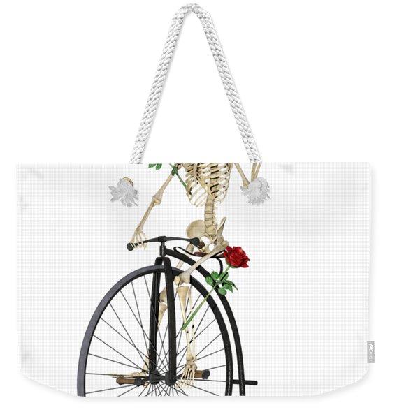 Rambling Rosy Penny Farthing Weekender Tote Bag