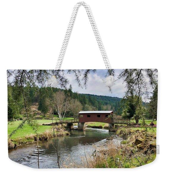 Ranch Hills Covered Bridge Weekender Tote Bag