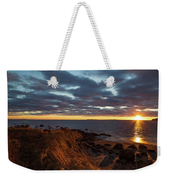 Randall Point Sunset At Barn Island - Stonington Ct Weekender Tote Bag