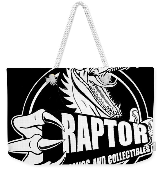 Raptor Comics Black Weekender Tote Bag