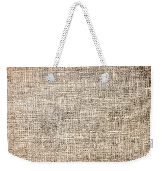 Raw Natural Linen Weekender Tote Bag
