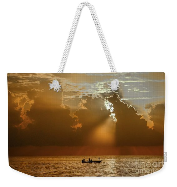Weekender Tote Bag featuring the photograph Rays Light The Way by Tom Claud