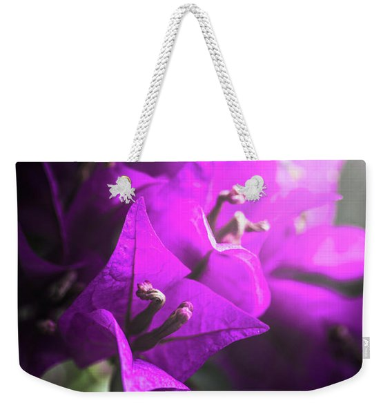 Rays Of Bougainvillea Weekender Tote Bag