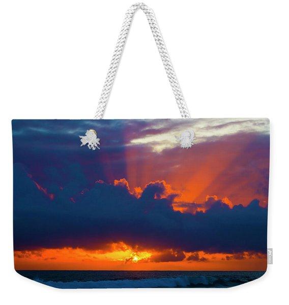 Rays Of Light Over The Ocean Weekender Tote Bag