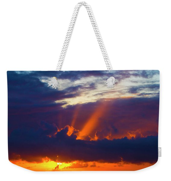 Rays Of Sunlight At Sunset Weekender Tote Bag