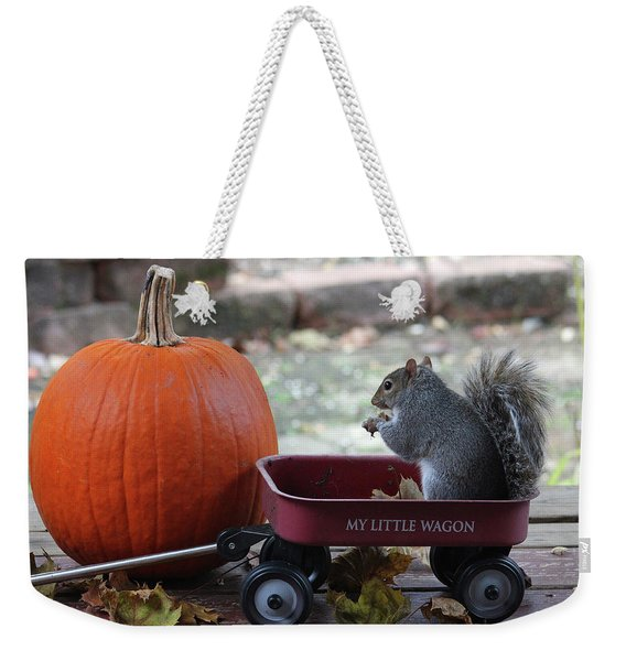 Ready To Ride My Little Red Wagon Weekender Tote Bag