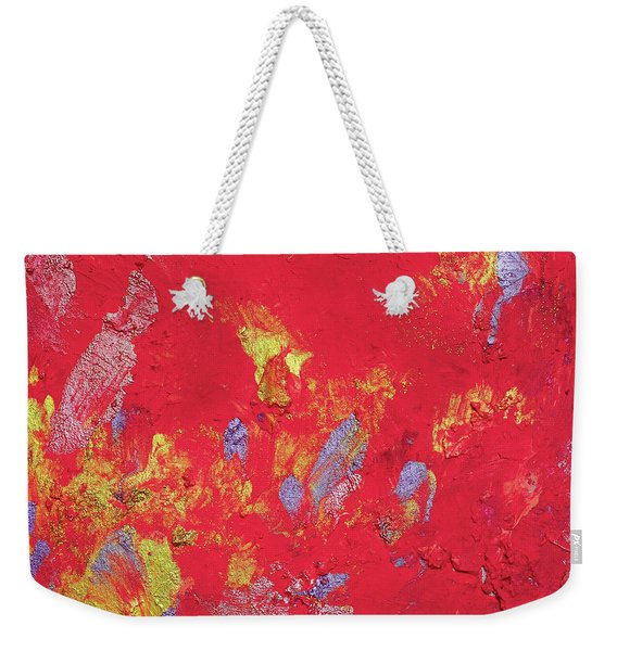 Red Cherry Abstract Painting Weekender Tote Bag