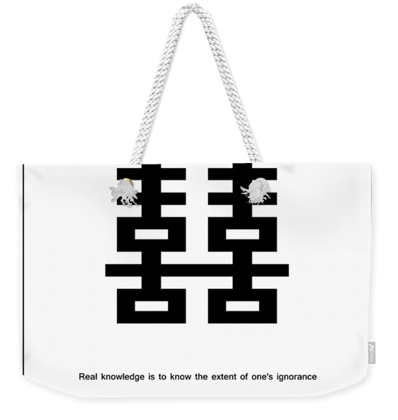 Real Knowledge Weekender Tote Bag