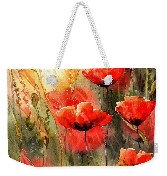 Real Red Poppies Weekender Tote Bag