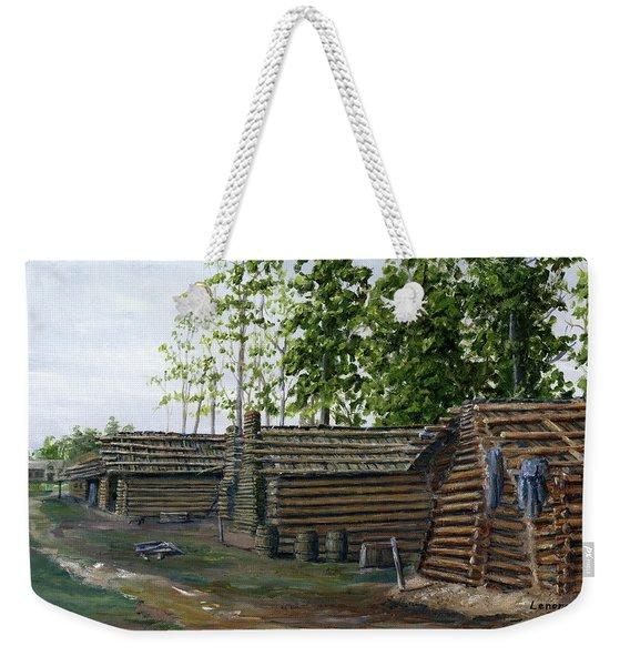 Rebel Huts, Port Hudson, Louisiana 1863 Weekender Tote Bag