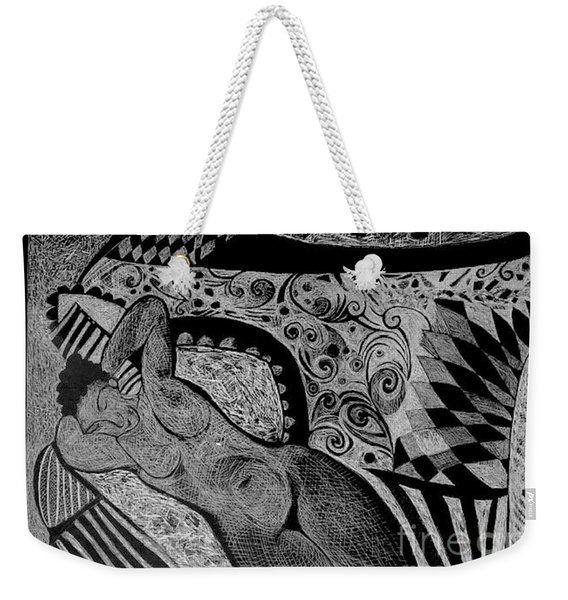 Reclining With Pillows Weekender Tote Bag