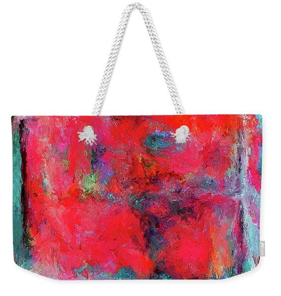 Rectangular Red Weekender Tote Bag