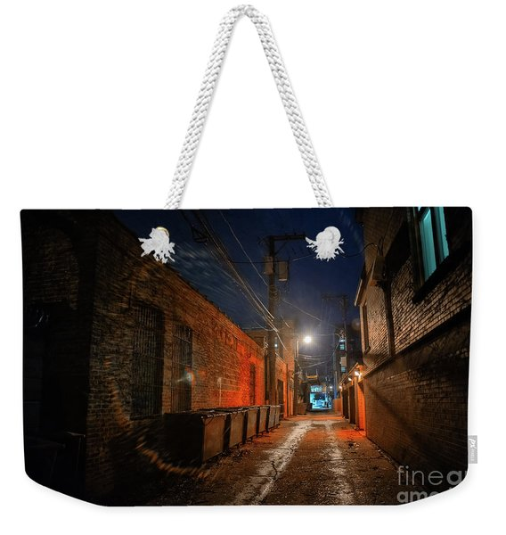 Red Alley Weekender Tote Bag