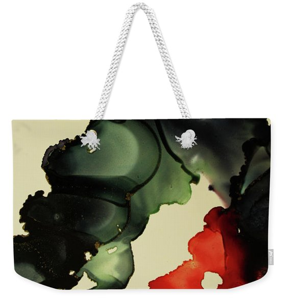 Red And Black Ink Blot I Weekender Tote Bag