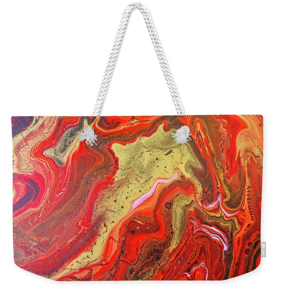 Red And Gold Weekender Tote Bag