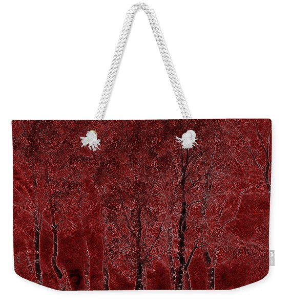 Red Aspen Grove Weekender Tote Bag