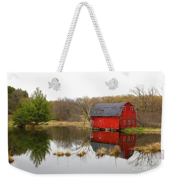 Red Barn Reflections Weekender Tote Bag