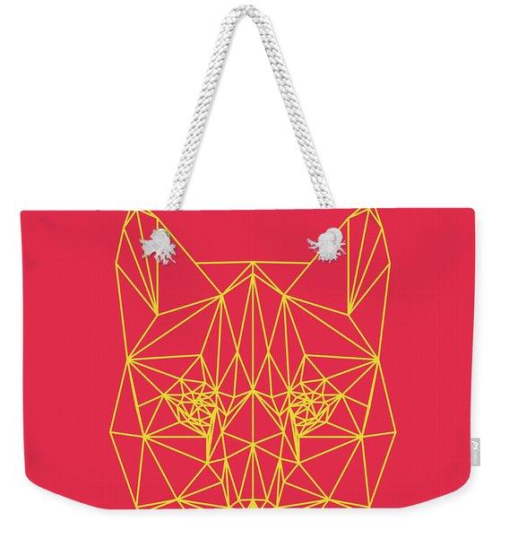 Red Bobcat Weekender Tote Bag