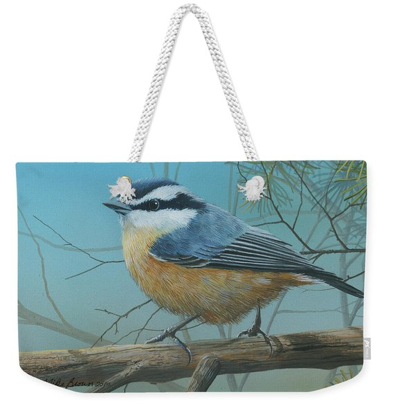 Red Brested Nuthatch Weekender Tote Bag
