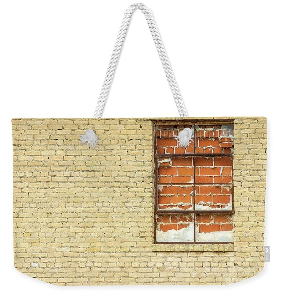 Red Brick Window  Weekender Tote Bag