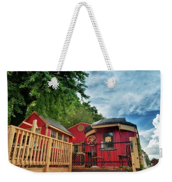 Red Caboose Weekender Tote Bag