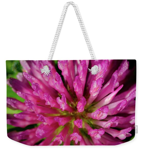 Red Clover Flower Weekender Tote Bag