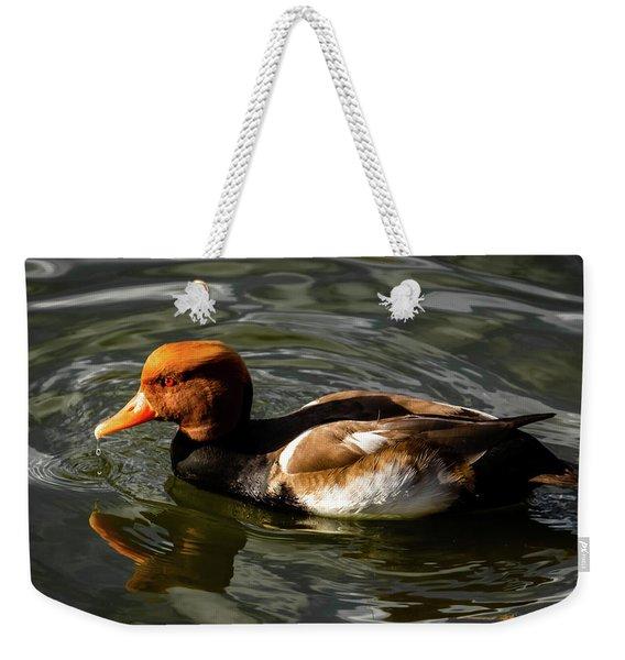 Red Crested Pochard Duck Weekender Tote Bag
