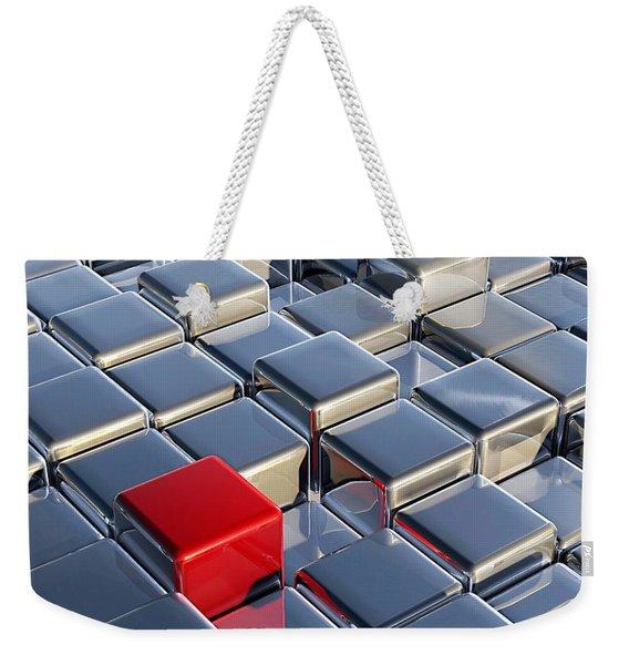 Red Cube Weekender Tote Bag