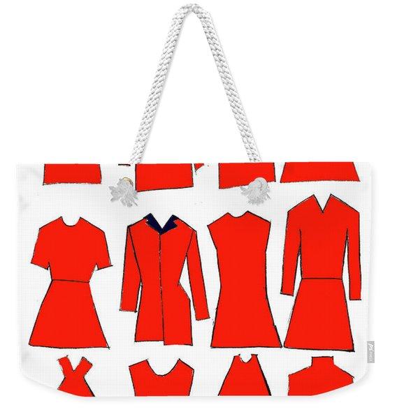Red Dresses Weekender Tote Bag