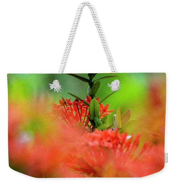 Red Flower Weekender Tote Bag