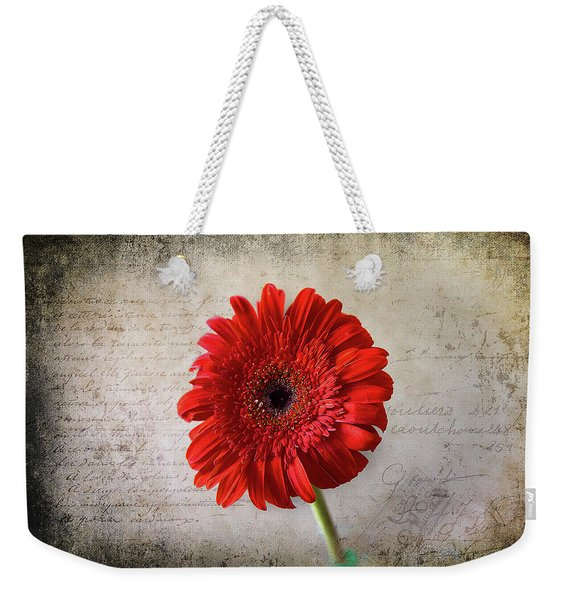 Red Gerbera Weekender Tote Bag
