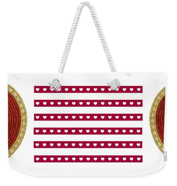 Red Heart Weekender Tote Bag