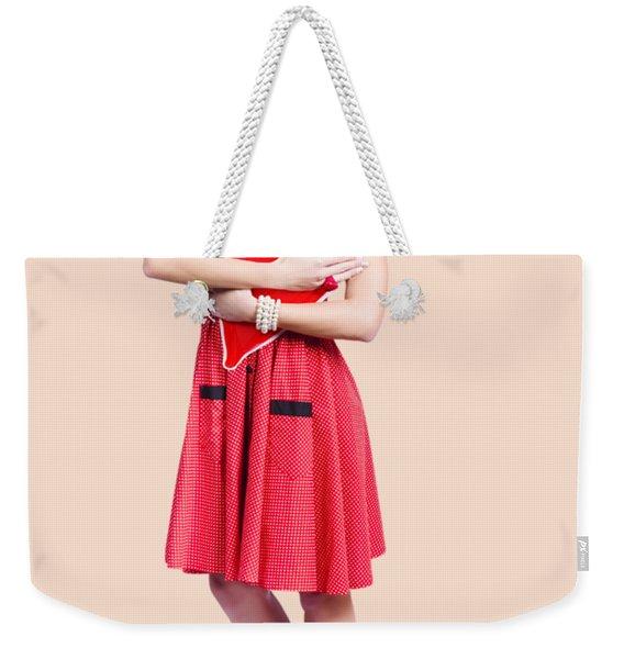 Red Heart Woman Weekender Tote Bag