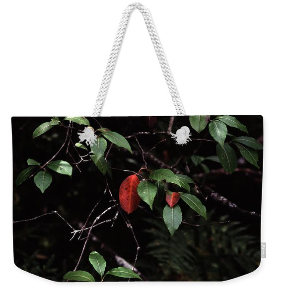 Red Leaf Weekender Tote Bag