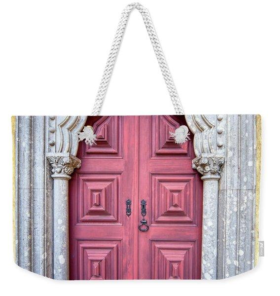 Red Medieval Door Weekender Tote Bag