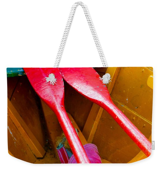 Red Oars Weekender Tote Bag