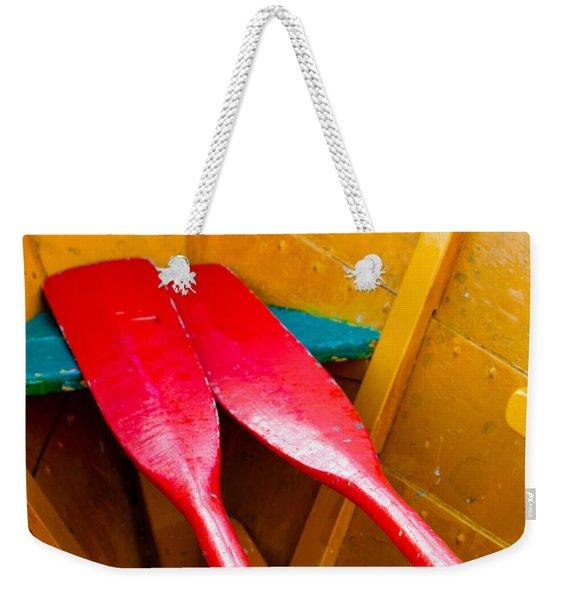 Red Oars Weekender Tote Bag