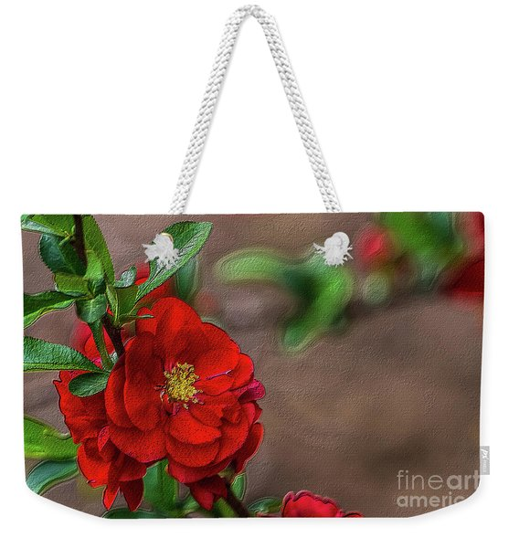 Red Quince Painterly Weekender Tote Bag
