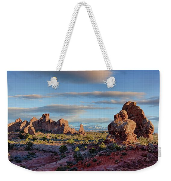 Red Rock Formations Arches National Park  Weekender Tote Bag