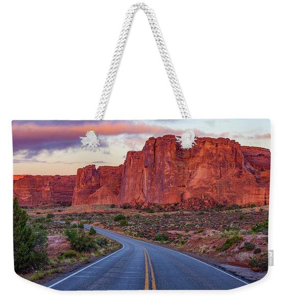 Red Rocks Road Weekender Tote Bag