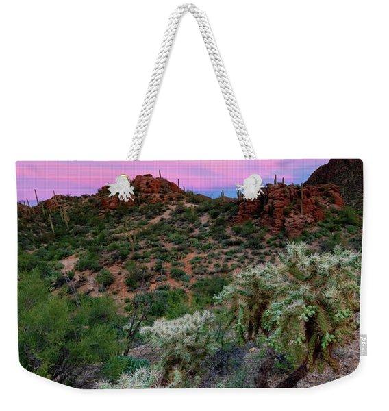 Red Sky Cholla Weekender Tote Bag