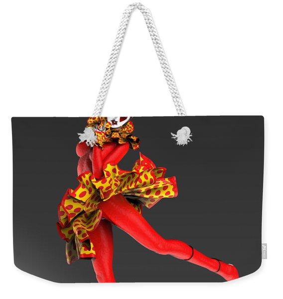 Red Spanish Pierrette Weekender Tote Bag