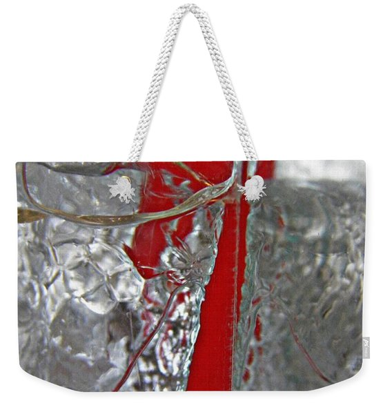 Red Straw In The Ice Weekender Tote Bag