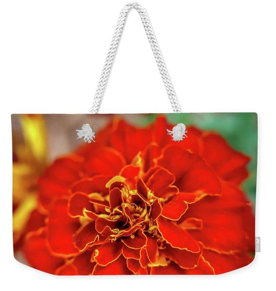 Red Summer Flowers Weekender Tote Bag