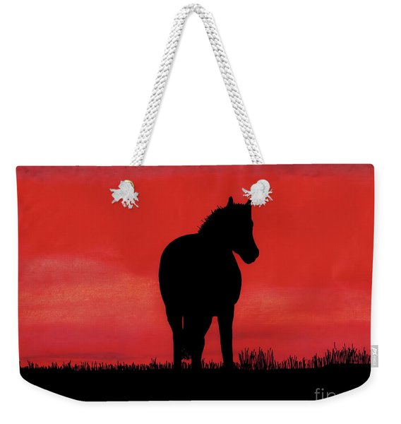 Red Sunset Horse Weekender Tote Bag