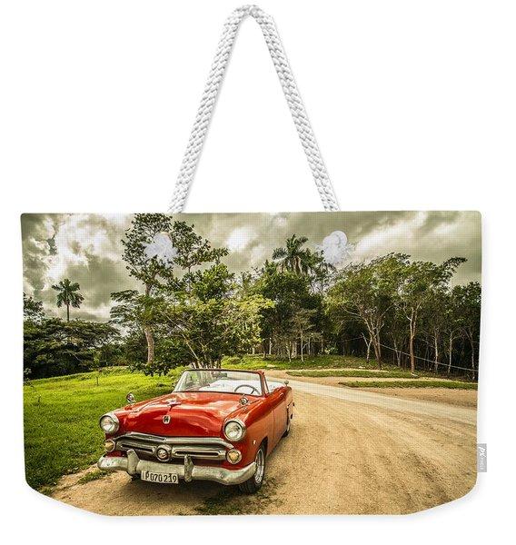 Red Vintage Car Weekender Tote Bag